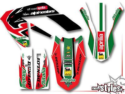APRILIA SX RX 125, 08-15, supermoto kompletter aufkleber graphic decal dekor kit