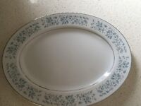 Vintage Towne House Fine China 3633 Brocade Oval Serving Platter