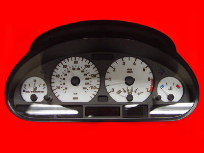 White Gauge Face Overlay For 1999-2006 BMW E46 3 Series 2D Coupe / Convertible 3 Series 2d Coupe
