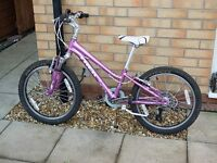 Trek MT60 Girls Mountain Bike, 6 gears, front suspension. Suits approx 6-10 Years Old.