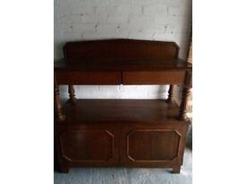 Oak buffet unit.