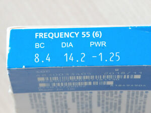 frequency 55 CooperVision Contact lenses- 6 Lenses/ EXP: 2018 Kitchener / Waterloo Kitchener Area image 4