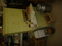 Vintage Yellow Hoozier Cabinet D461