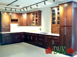kitchen cabinets up to 60% off - Shaker Chestnut Maple 10' x 10'