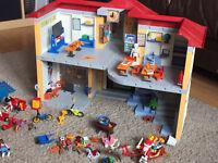 Playmobil school house and playground bundle £55 ONO