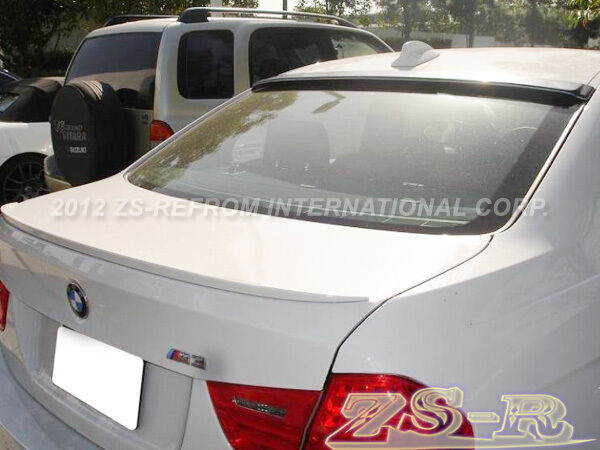 Unpaint OE P Type Trunk Lip AC Look Roof Spoiler For BMW F30 320i 328i 335i 4Dr