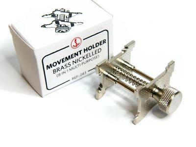 Werkhalter vernickelt  8 in 1 für Uhrwerke 14 - 36 mm Durchmesser