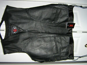 AK Leather Vest New with tags