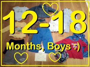 BOYS Clothing MIXED BAG (12 - 18 months) --- $6 FOR ALL !!