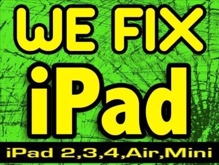 We Fix all Apple iPads - screen replacement - affordable price