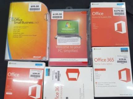 Assorted Microsoft Office Packs