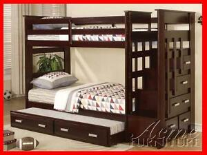 Allentown Bunkbed W/ Staircase + BONUS Free Trundle @ Yvonne's