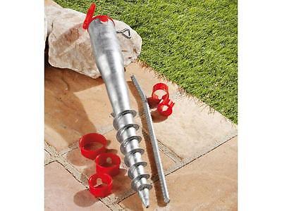 Metall Erdspieß Sonnenschirmständer Bodendübel Schirmständer Bodenhülse