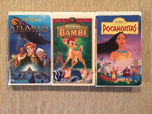 Disney VHS Movies Atlantis, Bambi, & Pocahontas -Great Condition Strathcona County Edmonton Area image 1