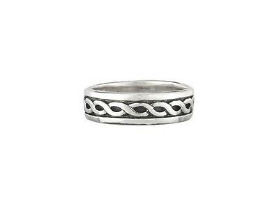 Sterling Silver Celtic Knot Wedding Ring IRISH  size 7 or 10
