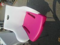 fun pink and white chair