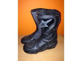 Alpinestars SMX PLUS waterproof motorbike boots sz 41EU or 7.5 UK