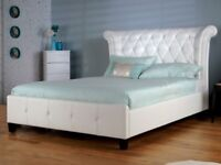 Leather bed double