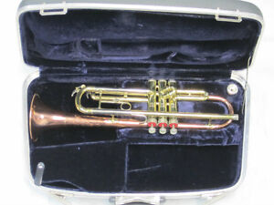 """TRUMPET Bb made in USA by Conn model """" 17B """" with Coprion Bell"""