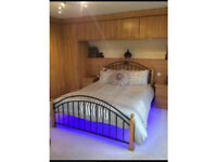 Marks and Spencer's Solid pine wood and metal frame double bed