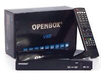 Openbox V8S Satellite Receiver Box With 12 Months Warranty Gift