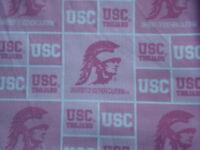 USC Southern California NCAA Baby Infant Newborn  Girl PINK Team Burp Cloth BCMM