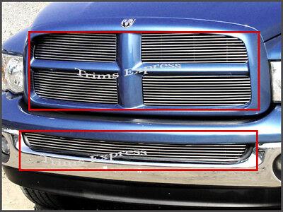 fits 2002-2005 Dodge Ram 1500/2500 Billet Grille-Combo 2004 (2005 Dodge Ram 2500 Grill)