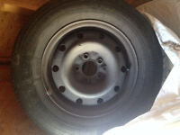 4 tires on rims