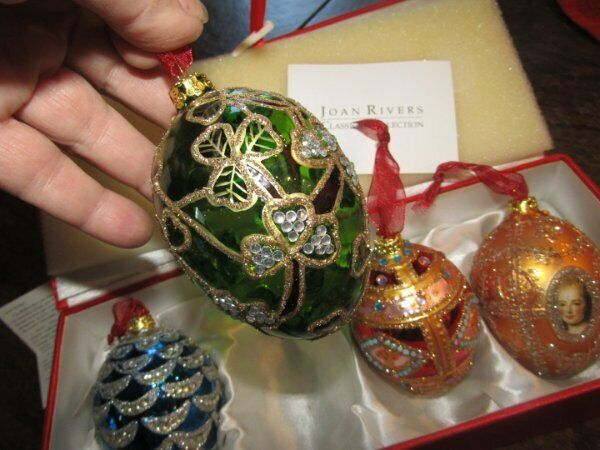 Minty Joan Rivers Four Seasons Egg Ornaments Imperial Treasures Russian Faberge