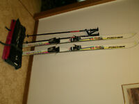 Downhill 170 cm Ladies Fischer SGZ Prodigy Skis, Bindings, Poles