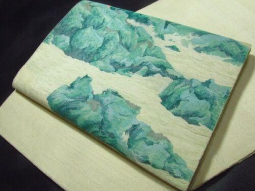 Japanese Kimono SILK FUKURO OBI FOREST (4408-244)