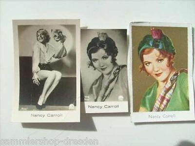 FM-12285 Carroll, Nancy 3 x Trading card original Sammelbilder in Farbe und sw