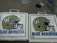 matching set of 1991 blue bomber seat cushions perfect for games