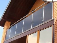 Stainless steel and Glass railings wrought iron railings