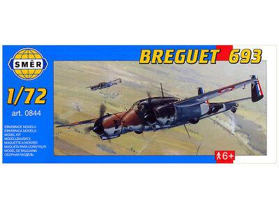 French Model Kit (Breguet 693, French WW2 Fighter Bomber (1/72 model kit, Smer 0844) )