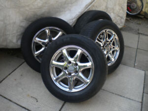 16 inch Chrome Rims with tires