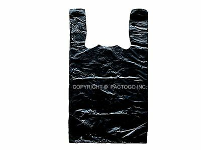 Large Black 16 T-shirt Plastic Shopping Grocery Bags 11.5 X 6.5x 21 500cs