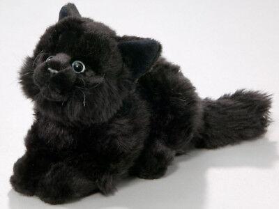 """""""Katze"""" liegend schwarz Plüschtier Kuscheltier Stofftier Plüsch Haustier Kater"""