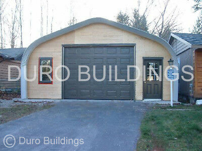 Durospan Steel 20x33x16 Metal Garage Building Kit Open Ends Factory Direct Sale