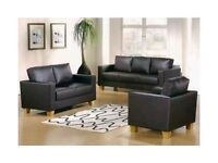 Great Value Box Sofa 3 2 & 1 for £290 Faux Leather with black or brown color option