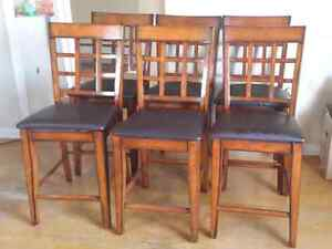 Six pub style dining chairs