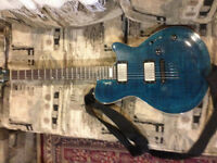 Godin guitar with amp and hard case