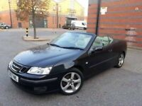 Saab 9-3 convertible,full service history, new clutch and flywheel, 3 mths warranty