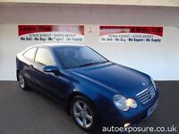 MERCEDES C CLASS TWO DOOR AUTOMATIC ALLOYS EXCELLENT CONDITION.