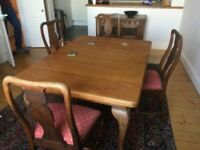 1920's Extending Dining Table and Four Chairs - Allen & Appleyard of Liverpool