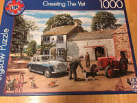 Old fashioned jigsaw puzzle