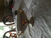 beau vase decoratif plaqué or