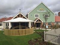 Didcot Harvester . Waiters and Bar staff.