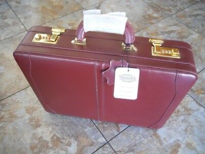EXECUTIVE LEATHER BRIEFCASE ATTACHE LAPTOP NOTEBOOK COMPUTER CASE expandable for sale  Shipping to India