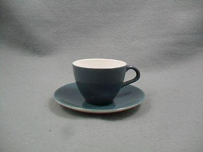 Poole Twintone Blue Moon Coffee Cup & Saucer  Blue Moon Coffee